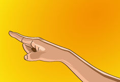 Hand Sign. Vector illustration - Beautiful finger outline version. Created with adobe illustrator. finger, background, are Created separately Royalty Free Stock Photo