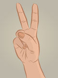 Hand sign victory Royalty Free Stock Images