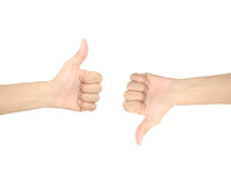Hand signal Royalty Free Stock Photo