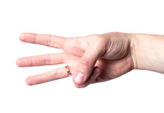 Hand signal. Isolated on white background Royalty Free Stock Photography