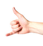 Hand signal Royalty Free Stock Image