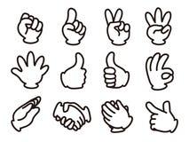 Hand signal vector illustration