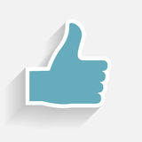 Hand signal on white. vector illustration. EPS 10. Royalty Free Stock Photography