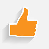 Hand signal on white. vector illustration. EPS 10. Royalty Free Stock Images