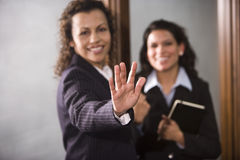 Hand signaling to stop Royalty Free Stock Photography