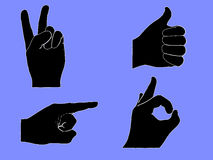 Hand signals Royalty Free Stock Photos