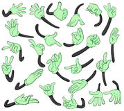 Hand signals. Illustration of hand signals on a white background royalty free illustration