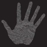 Hand signature,  Royalty Free Stock Image