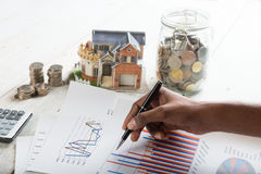Hand signing property loan stock images