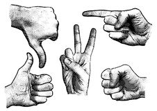 Hand signs Royalty Free Stock Photography