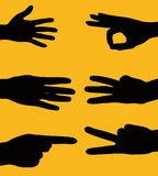 Hand signs Stock Photography