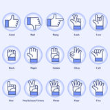 Hand signs Royalty Free Stock Images