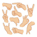 Hand signs Royalty Free Stock Photo