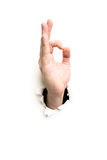 Hand signs Royalty Free Stock Image