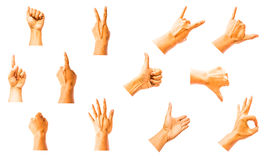 Hand signs Stock Image