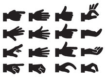 Hand Signs Vector Icon Set Stock Images