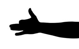 Hand silhouette Royalty Free Stock Photography