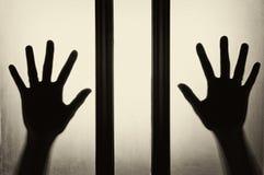 Hand silhouette Stock Photos