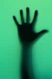 Hand silhouette Stock Image