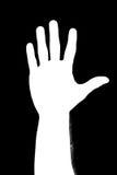 Hand silhouette . Stock Photo