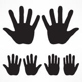 Hand silhouette set Royalty Free Stock Image