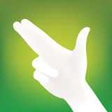 Hand silhouette vector Royalty Free Stock Photography