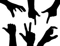 Hand silhouettes Royalty Free Stock Images