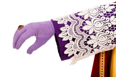 Hand of Sinterklaas Royalty Free Stock Photography