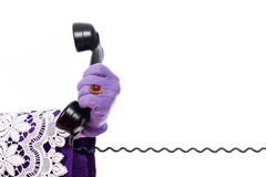 Hand of Sinterklaas with telephone Stock Photography