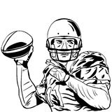 Hand sketch of american football player Stock Photography