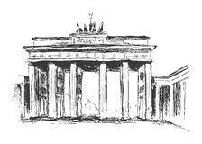 Hand sketch Brandenburg Gate Stock Photo