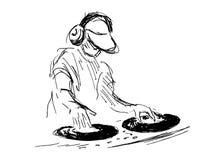 Hand sketch DJs Stock Images