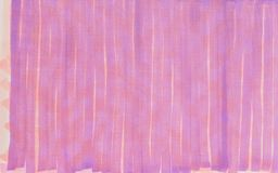 Hand drawn bright violet vertical lines background illustration. Hand sketch done with felt tip pens or markers based on alcoholic inks, showing red crossing Royalty Free Stock Photos