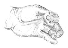 Hand, Sketch, Drawing, Finger Royalty Free Stock Image