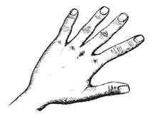 Hand Sketch By Pen Royalty Free Stock Photos
