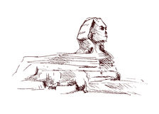 Hand sketch sphinx. Vector illustration Royalty Free Stock Photos