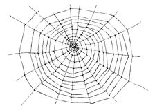 Hand sketch spider web Royalty Free Stock Photos