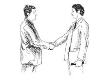 Hand sketch of two businessmen Royalty Free Stock Photo