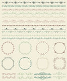 Hand Sketched Borders and Frames, Dividers, Swirls Royalty Free Stock Photography