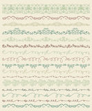 Hand Sketched Borders and Frames, Dividers, Swirls Stock Image