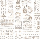 Hand sketched doodle elements Stock Image