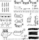 Hand sketched doodles Royalty Free Stock Photos