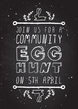 Hand-sketched easter typographic element Royalty Free Stock Images