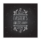 Hand-sketched easter typographic element Royalty Free Stock Photos