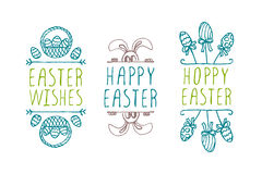 Hand-sketched easter typographic elements Royalty Free Stock Photo