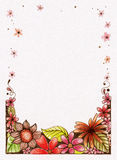 Hand Sketched Flower Border Stock Photo