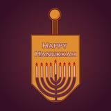 Hand sketched Happy Hanukkah logotype Stock Photos