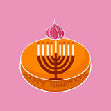 Hand sketched Happy Hanukkah logotype Royalty Free Stock Photo