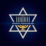 Hand sketched Happy Hanukkah logotype Royalty Free Stock Photo