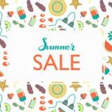 Hand sketched Summer Sale typography lettering poster vector illustration